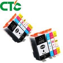 8 упаковок 934xl 935xl совместимый чернильный картридж для валюты