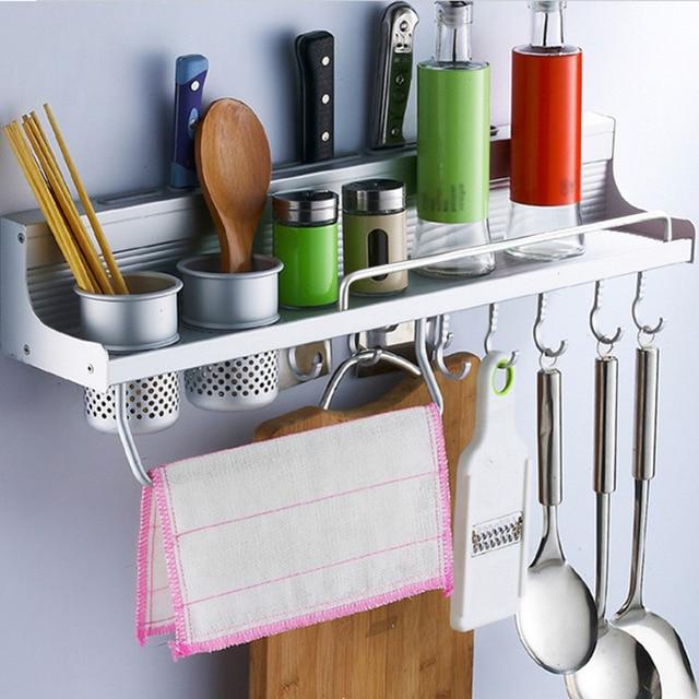 Us 4289 Przestrzeń Aluminium Kuchnia Przyprawy Przyprawy Półka Do Montażu Na ścianie Półki Narożne Półki łazienka Kuchnia Przechowywania Produktów