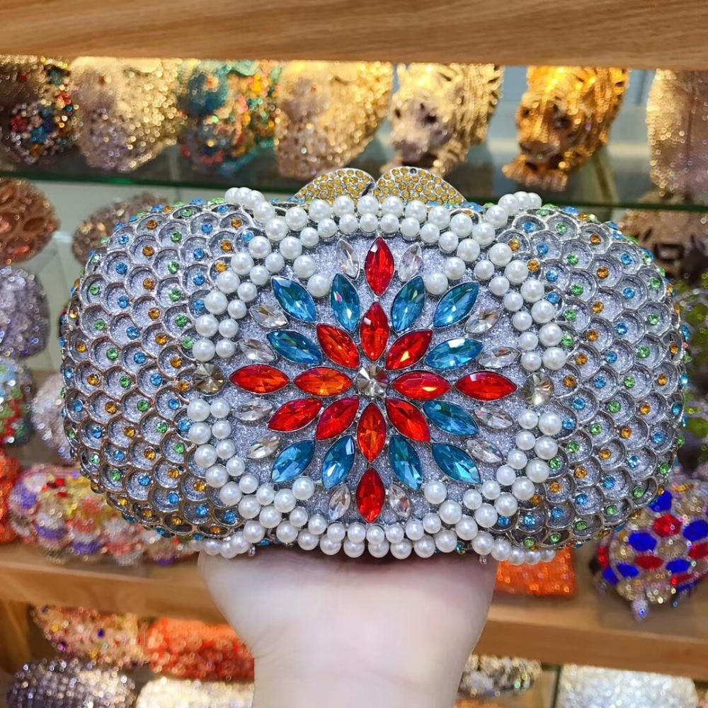 XIYUAN BRAND Royal blue/gold/silver floral Crystal diamond day Clutches Bags Evening Purse Bridal Wedding Party Handbag wallet браслет royal diamond 10