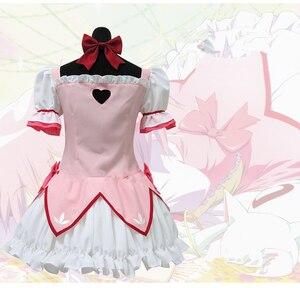 Image 3 - Puella Magi Madoka Magica Magical Girl Kaname Madoka Cosplay Costume Short Ball Dress With Bowknots Cosplay Costume