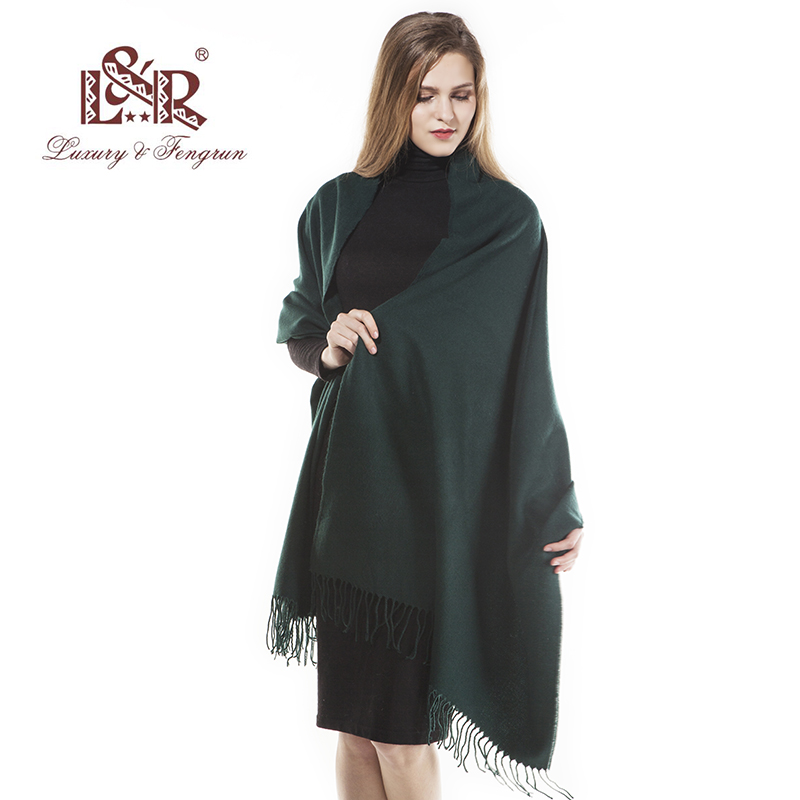2018 Cashmere Scarf For Women Classic Solid Warm Poncho Women Winter Scarves Foulard Shawls Stoles Blanket Scarfs Luxury Brand