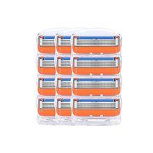 12 шт./лот для мужчин бритвы лезвия высококачественные, для бритья кассеты уход за лицом лезвия для бритья Совместимость Gillettee Fusione