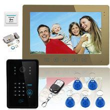 YobangSecurity 10″ Color Monitors Touch Button Video Door Phone Intercome Doorbell With Waterproof Outdoor IR Camera Door Lock