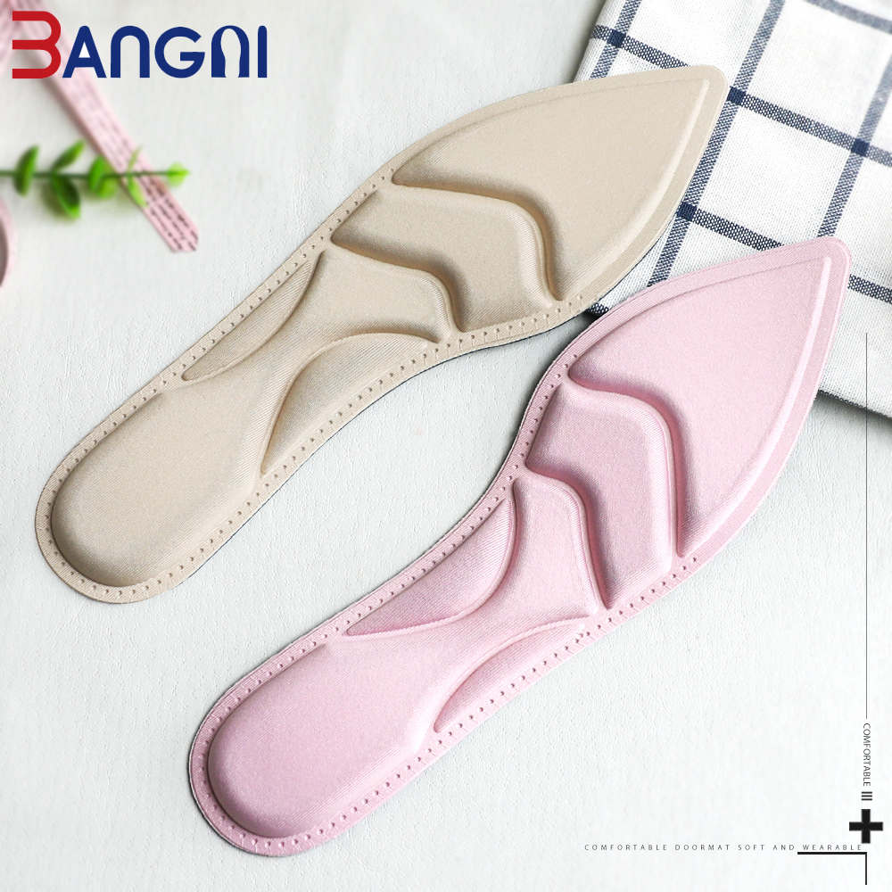 3ANGNI 4D Arch Support Soft Grinding Feet Sweat-Absorbant Memory Foam Massage Insert Pads Insoles For Women High Heels Shoes 3angni orthotic arch support mild flat feet memory foam 3 4 insoles inset soft message for man woman shoes
