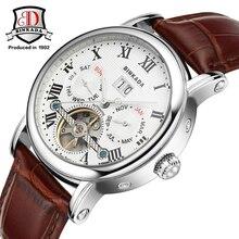 2016 BINKADA Relojes Automático de Los Hombres Reloj Mecánico Hueco de Acero del Negocio de Manera de Los Hombres A Prueba de agua Reloj Masculino Tourbillon Relojes