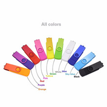 new products 2017 High Speed Colorful Rotation usb3.0 OTG 16GB 32GB Pen usb external memory disk Free Shipping
