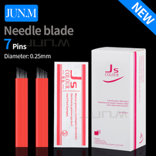 500Pcs 0.25Mm 7Pins Microblading Needles Blade For Eyebrow Tattoos Prong Flat Blades 3D Permanent Makeup Embroidery