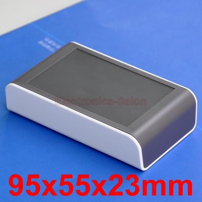 Desktop Instrumentation Project Enclosure Box Case, White-Brown, 95x55x23mm.