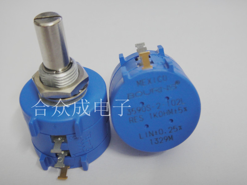 [VK] BOURNS <font><b>3590S</b></font> <font><b>3590S</b></font>-<font><b>2</b></font>-<font><b>102L</b></font> multi-turn precision potentiometer wire wound potentiometer original switch image