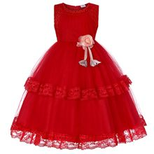 2019 New Fashion Girls Princess Dresses Costume Kids Clothes Ball Gown for Girl Dress Knee-length Floral Style 4-14 Years
