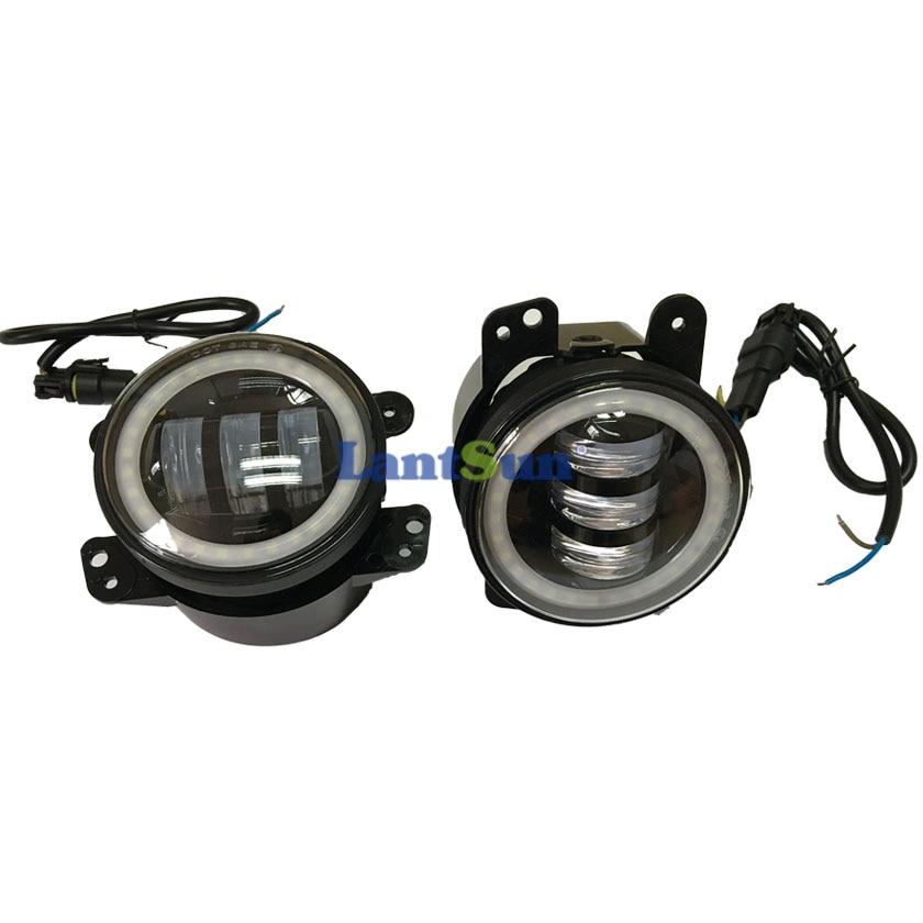 Par J023R 6500K 30w 4 inčni LED svjetla za maglu sa halo prstenom - Svjetla automobila - Foto 5