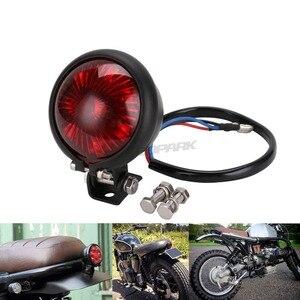 SPEEDPARK мотоцикл Красный 12V светодиодный регулируемый Cafe Racer Стиль Стоп задний фонарь стоп-сигнал задний фонарь для Chopper