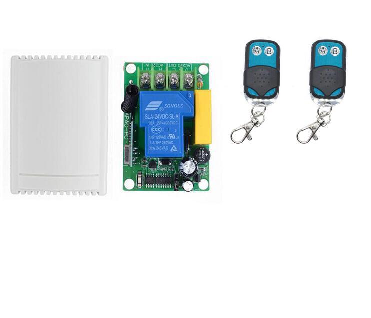 433MHZ Rf Remote Control Receiver AC 220V 30A 1CH Wireless Remote Control Switch Control Garage/Roller/Sliding Gate Door /Motor