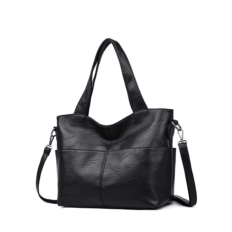 Image 3 - Women Handbag Leather Women Shoulder Bags 2 sets Famous Brand Designer Women Messenger Bags Ladies Casual Tote Bags sac a main-in Top-Handle Bags from Luggage & Bags