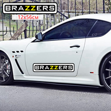 CS-009#12*56cm brazzers cool colorful car sticker and decal for rear window/bumper auto stickers removable