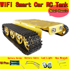 DOIT T200 RC metal Tank Chassis with Bearings Caterpillar Tractor Crawler Intelligent Robot Car Obstacle Avoidance DIY Toy