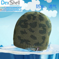 Men high quality Camouflage breathable coolmax hiking waterproof/windproof outdoor sport beanie knitted winter snow cap/hats