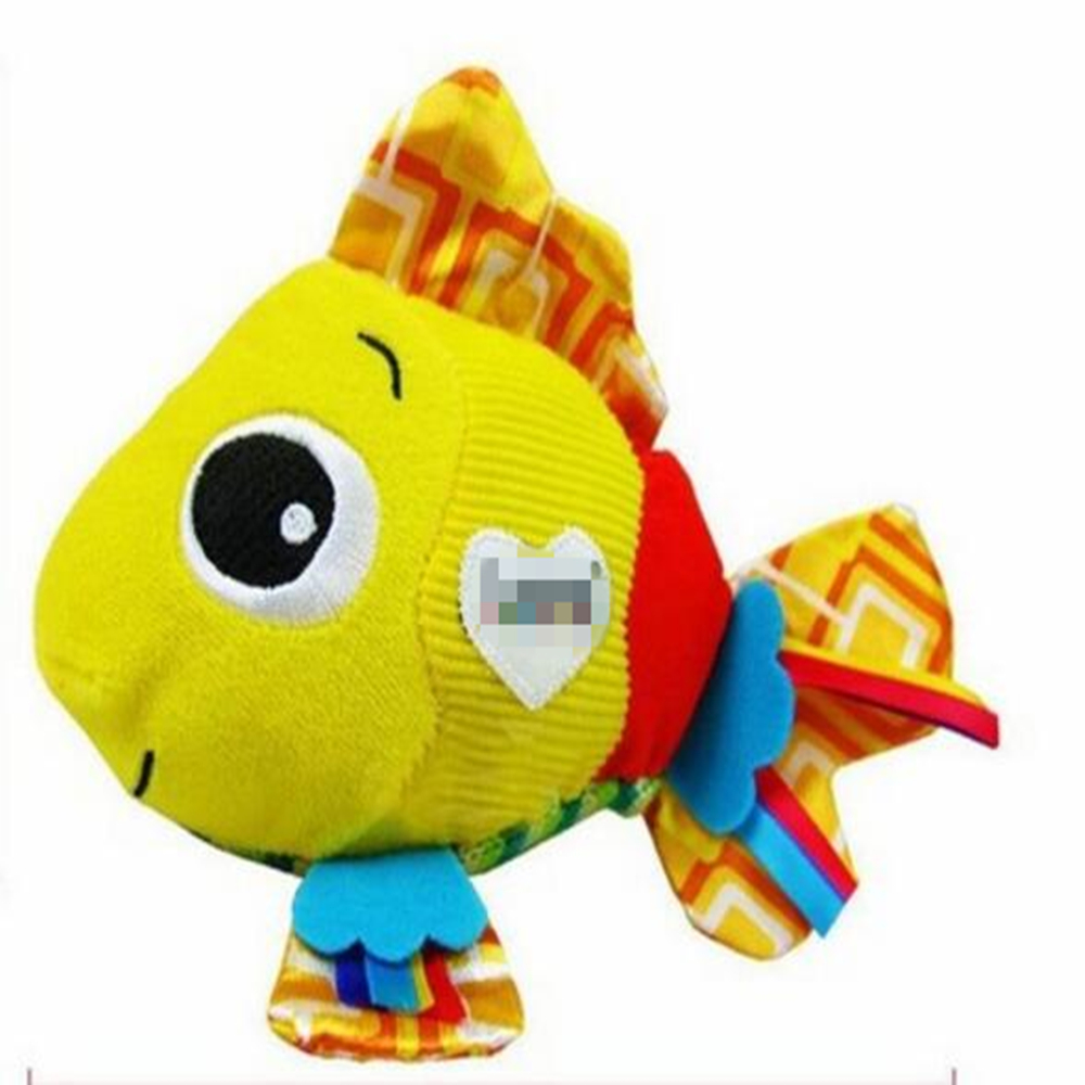 Multi-touch Clownfish Baby Rattles with BB device and Massage particles high quality Colored ...