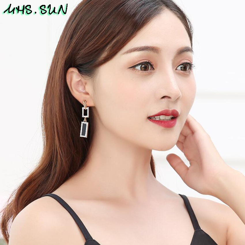 30-4Fashion Exaggerated Women Crystal Drop Earrings European Style Dangles Earrings Jewelry Trendy Design Party Accessories
