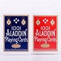 1 cubierta suave 1001 aladdin naipes cubierta de colección rojo o azul magic card poker magic magic trucos atrezzo