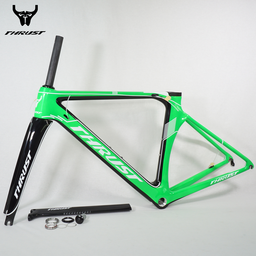 THRUST 2017 Carbon Road Bike Frame 48cm 50cm 52cm 54cm 56cm Racing Carbon Road Frame BSA BB30 Cycling Bicycle Frameset 8 Colors