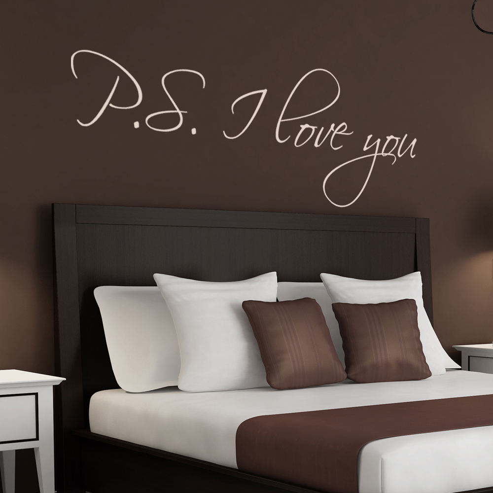 I Love You Quotes: PS I Love You Wall Stickers Romantic Love Saying Quotes