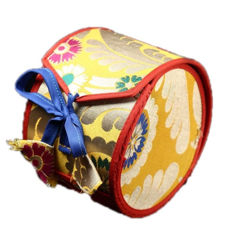 Купить с кэшбэком Nepali Fine Sheepskin Religious Ceremonies Drum  Hand Drum Tantra Hand Drum With A Bag - Instrumentos Musicales