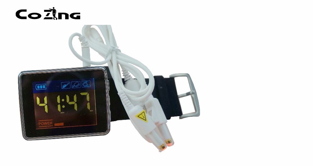 Laser level blood irradiation equipment wrist type laser wrist watch for eldly home use high quantity medicine detection type blood and marrow test slides