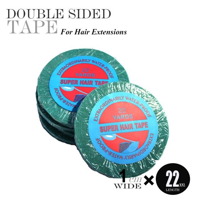 1ks 1cm * 22Yard modrá Čipka vpředu Super oboustranná lepící páska pro prodlužování vlasů / čipka parochnička / čipka přední páska / páska vlasy