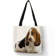 Customized Terrier Dog Art Eco Reusable Shopping Bag Linen Hand