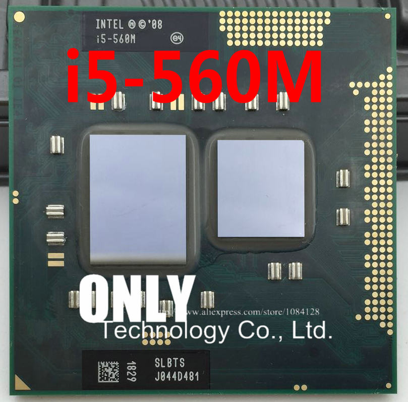 i5-560M Processor (3M Cache,2.66GHz ~3.2Ghz, i5 560M , SLBTS ) PGA988 TDP 35W Laptop CPU Compatible HM55 HM57 QM57(China)
