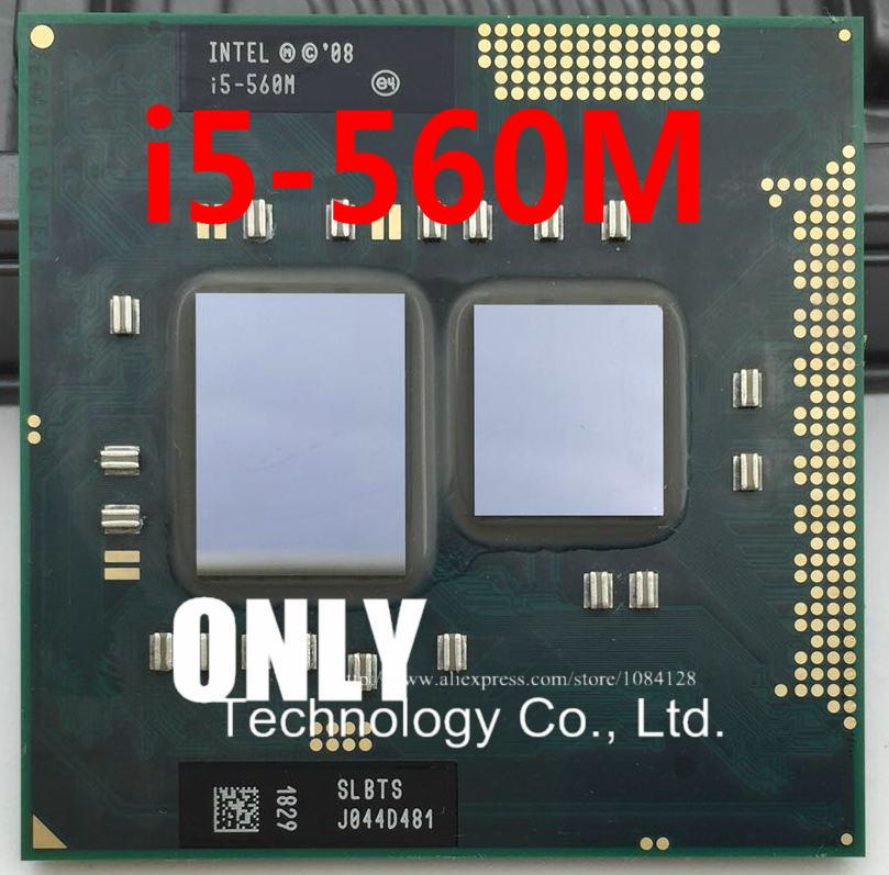 i5-560M Processor (3M Cache,2.66GHz ~3.2Ghz, i5 560M , SLBTS ) PGA988 TDP 35W Laptop CPU Compatible HM55 HM57 QM57(China)