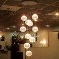 O mais recente E14 Rodada Bola Pingente Luzes 10 Luzes lustres de teto de Vidro moderna luminárias casa lojas de fábrica