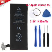 Genuine Replacement Lithium Polymer Battery 3.8V 1430mAh for Apple iPhone 4S + + 8pcs Tools Batterie Batterij Bateria