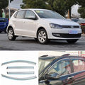 4pcs New Smoked Clear Window Vent Shade Visor Wind Deflectors For VW Polo 2012