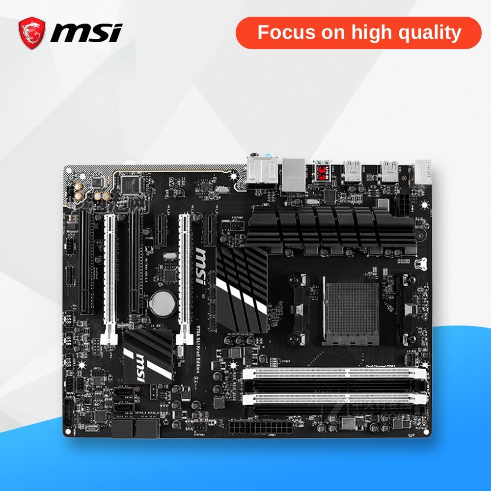 MSI 970A-G43 PLUS Original Used Desktop Motherboard 970 Socket AM3 DDR3 32G STAT3 USB3.0 ATX msi 970a g46 original used desktop motherboard 970 socket am3 ddr3 32g stat3 usb3 0 atx on sale