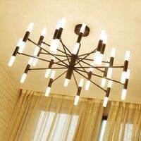 Modern Designer Chandeliers For Living Room Bedroom Dining Room Post Creative Gold Black G9 LED Chandelier