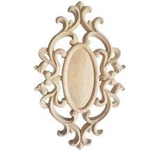 Novedad en oferta, pegatina Onlay ondulada de madera tallada sin pintar, apliques de esquina para decoración de muebles para el hogar, madera tallada decorativa