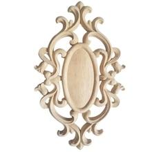 Quente novo sem pintura de madeira esculpida onda flor onlay decalque canto applique para móveis para casa decoração de madeira decorativa esculpida