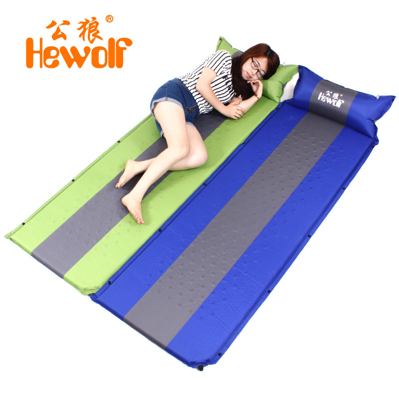 Hewolf 2016 190*65CM single person ultralight camping beach fishing hiking automatic inflatable mattress cushion mat <font><b>on</b></font> sale