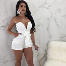 Catsuit Body Feminino New Rushed Bodysuit Women 2019 Summer Free Shipping Jumpsuit Straight Strapless Short Solid Casual Cotton(China)