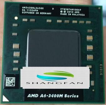 AMD A6 3400M Series A6-3430MX A6 3430mx AM3430HLX43GX Cpu APU With Radeon HD 6520G Graphics Quad-Core Processor A6-Series