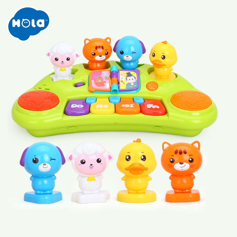 HOLA 2103A Kids Learning & Education Electronic Toys Musical Educational Animal Piano Developmental Music Toy for Children