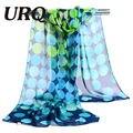 Pañuelo de gasa de impresión grande del punto de las mujeres patrones bufanda musulmán de la señora del diseño de marca de primavera y otoño del cabo del abrigo del mantón de 2017