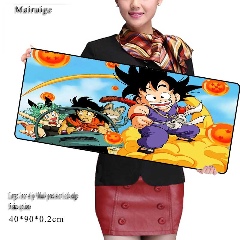 Mairuige 2018 New Dragon Ball Z Anime Mouse Pad Computer Mouse Pad Over Lock Edge Big Gaming Pad Mouse Gamer To Best Game Mouse