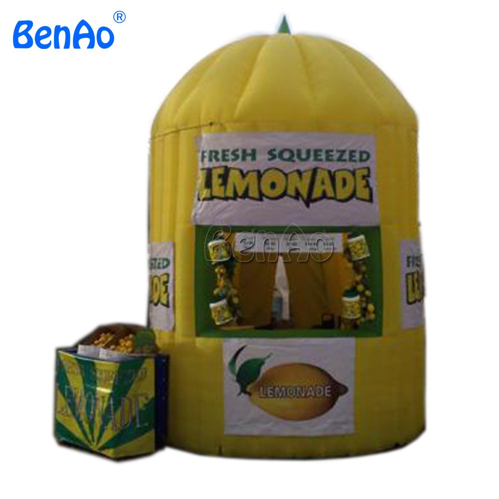 T122 BENAOFree shipping 10*13ft inflatable lemonade booth,inflatable lemon stand bar booth kiosk tent advertising tent for sale david booth display advertising an hour a day