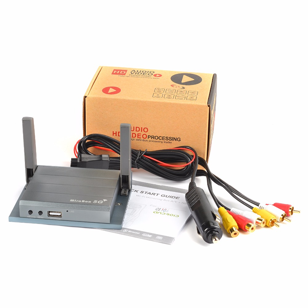 Simple Installation Wireless Carlink Carplay MiraBox 5G Support Home Office Mirroring Display HDMI/AV/USB Carro Mirrorlink caixa