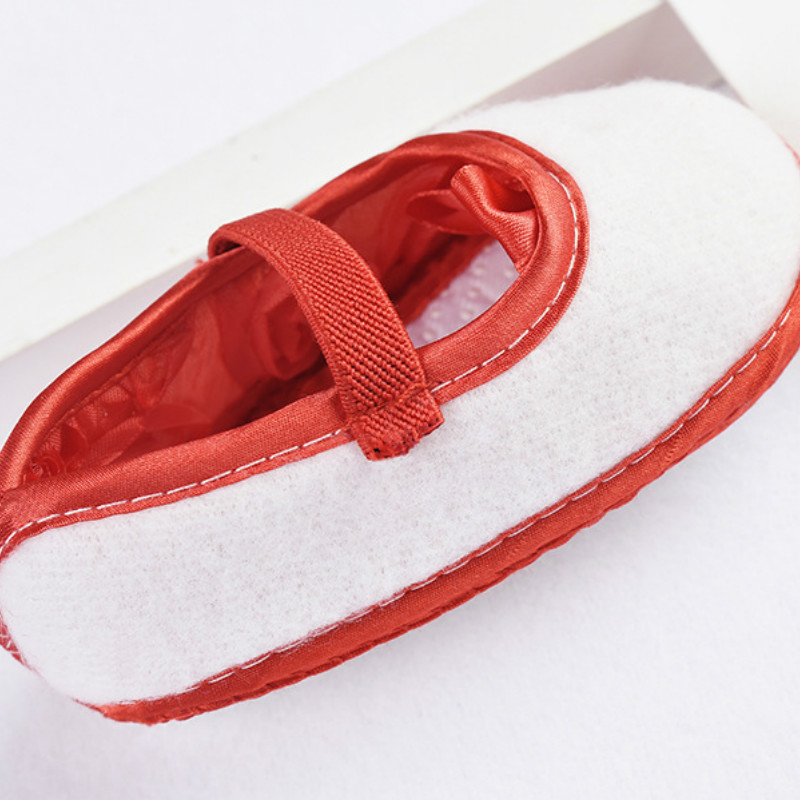 Baby Girl Shoes Ribbon Bow First Walkers Princess Baby Shoes Rose Flowers Bow Newborn Soft Anti-slip for infant Girls 6