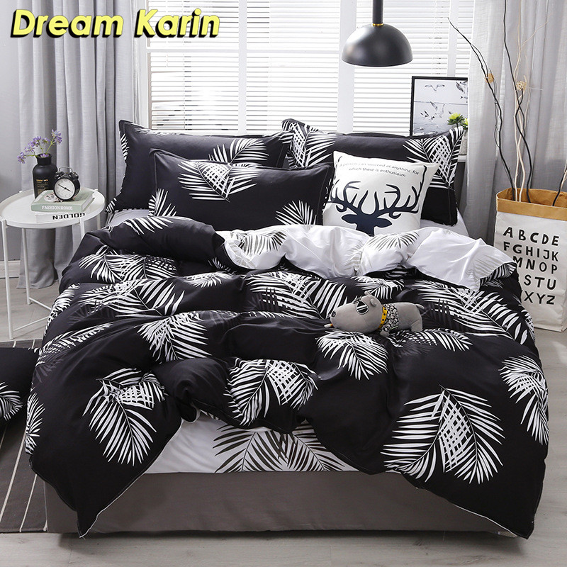 Nordic Simple Bedding Set Adult Duvet Cover Sets Bedclothes Bed Linen Sheet Single Double Queen King Size Qulit Covers 240/220