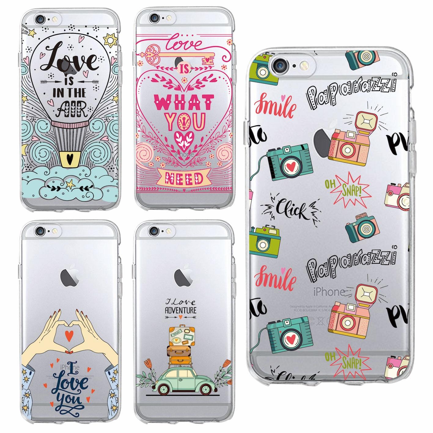 Для iPhone 6 6 s 6 Plus 7 7 Plus 8 8 Plus X SAMSUNG мило любовь приключений путешествие Лидер продаж воздушный шар кнопки мягкий чехол для телефона Coque Fundas